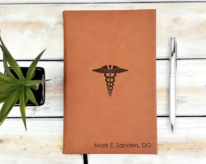 Personalized Journal | Notebook | Monogrammed | Personalized Gift | Medical | Doctor | Nurse | Healthcare | Graduation Gift | Laser Engraved