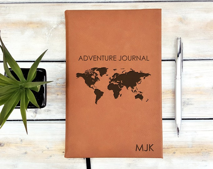 Personalized Monogrammed Travel Adventure Journal Notebook
