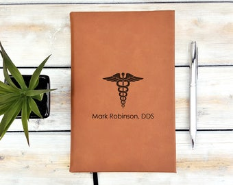 Personalized Journal | Notebook | Monogrammed | Personalized Gift | Dentist | Doctor | Nurse | Healthcare | Graduation Gift | Laser Engraved