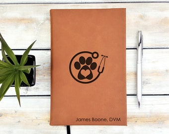 Personalized Journal | Notebook | Monogrammed | Personalized Gift | Vet | Doctor | Veterinary | Nurse | Graduation Gift | Animal Lover | DVM