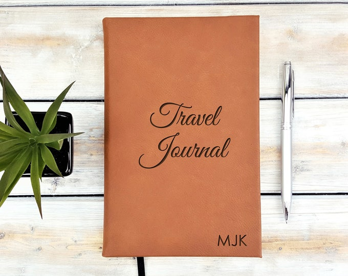 Personalized Journal | Notebook | Monogrammed | Personalized Gift | Travel | Adventure | Wedding Planner | Laser Engraved