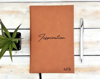 Personalized Journal, Monogrammed Journal, Personalized Notebook, Diary, Leatherette Journal, Back To School, Blessed, Inspiration, Notes