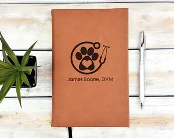 Personalized Journal | Notebook | Monogrammed | Personalized Gift | Vet | Doctor | Veterinary | Nurse | Graduation Gift | Animal Lover | DVM