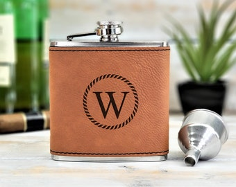 Personalized Flask | Monogrammed | Groomsmen | Groomsman | Wedding | Gift | Bridesmaid | Whiskey | Bar | Father's day