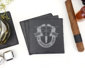 USA Army Special Forces Slate Coasters Laser Engraved