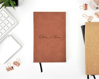 Personalized Wedding Guest Book Anniversary Gift Name Journal