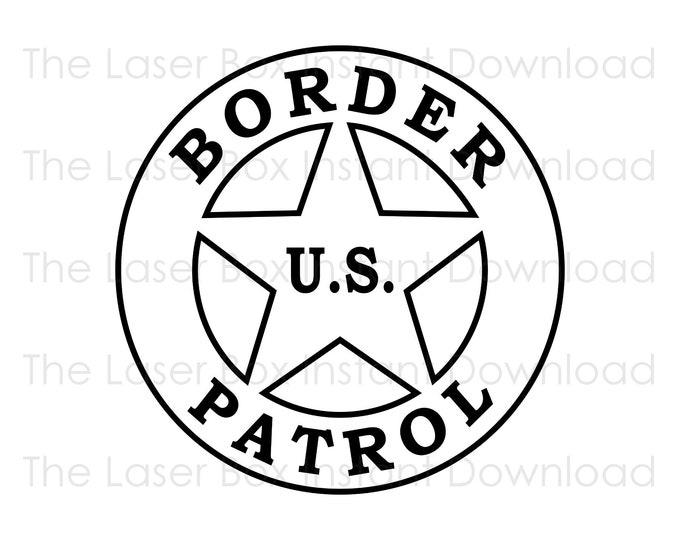 Border Patrol Trooper Badge Vector Svg, Eps, Png, Jpg and Pdf Instant Download