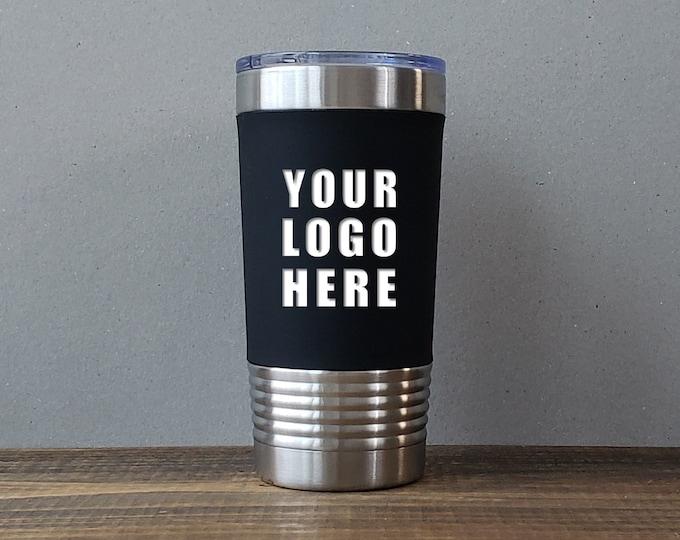 Personalized Tumbler, Custom Travel Mug, 20 oz Insulated Tumbler, Stainless Steel Tumbler, Silicone Grip Tumbler