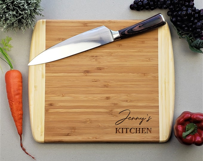 Mothers Day Gift, Personalized Cutting Board, Moms Kitchen, Housewarming Gift, Bamboo Cutting Board