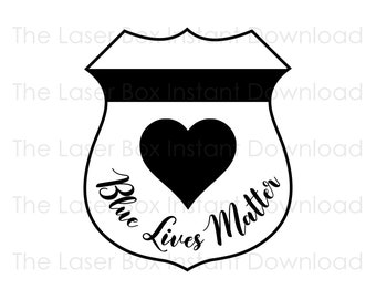 Police Officer Badge Blue Lives Matter Vector Svg, Eps, Png, Jpg and Pdf Instant Download