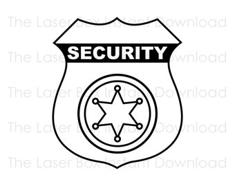 Security Officer Badge Vector Svg, Eps, Png, Jpg and Pdf Instant Download