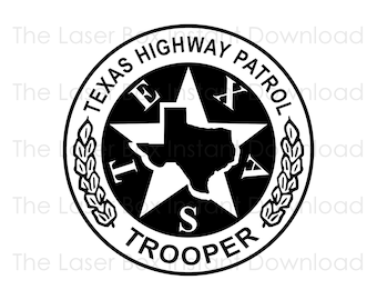 Texas Highway Patrol Trooper Badge Vector Svg, Eps, Png, Jpg and Pdf Instant Download