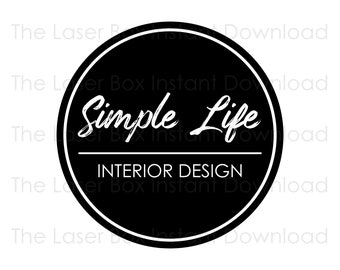 Premade Simple Round Logo Design Svg, Eps, Png, Jpg and Pdf (Instant Download)