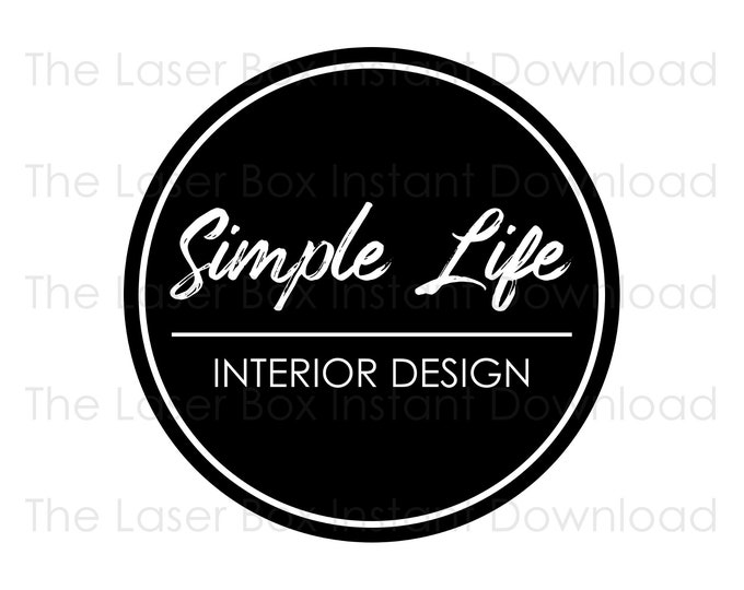 Premade Simple Round Logo Design Svg, Eps, Png, Jpg and Pdf (Instant Download)