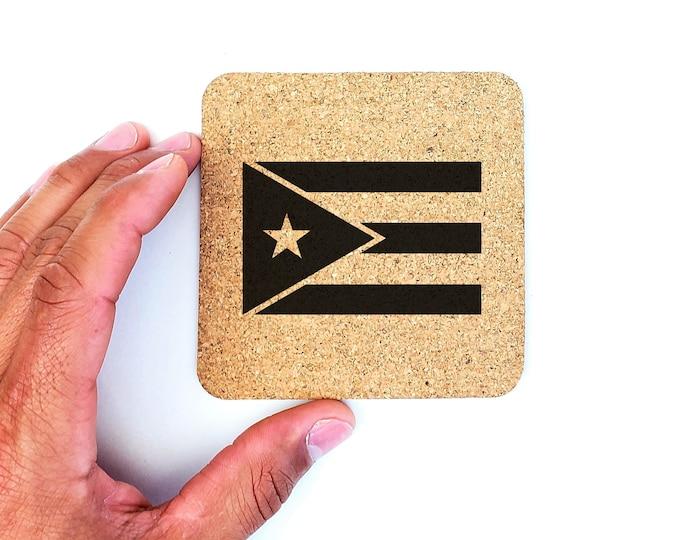 Puerto Rico Boricua Puerto Rican Flag Cork Coasters