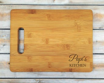 Personalized Cutting Board | Bamboo Cutting Board | Laser Engraved | Housewarming Gift | Papi's Kitchen | Mothers Day Gift | Father Gift