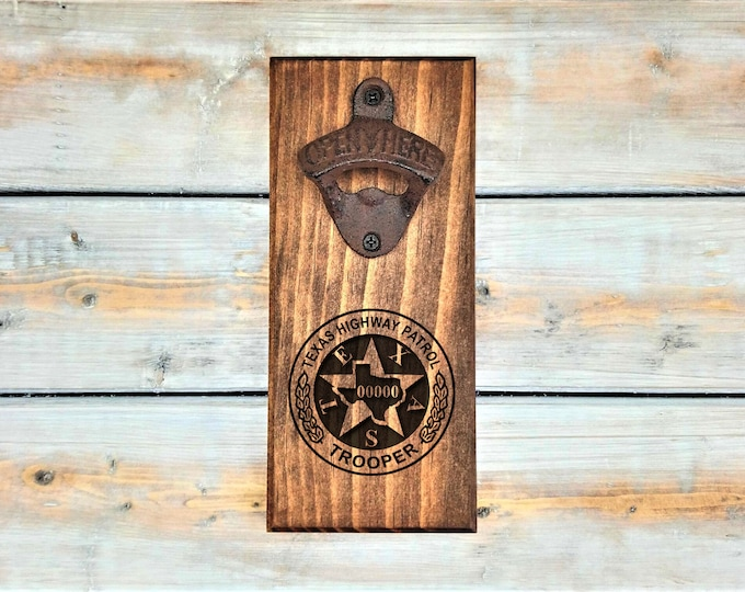 Texas Highway Patrol Trooper Beer Magnetic Bottle Opener