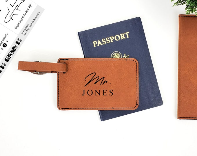 Personalized Luggage Tag | Monogrammed Tag | Personalized Gift | Travel Tags | His & Hers Luggage Tags | Adventure | Mr and Mrs Tags