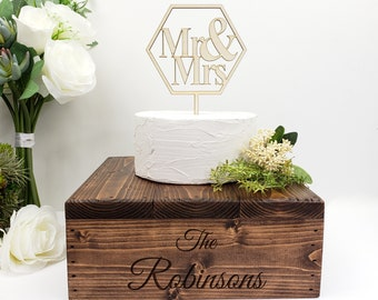 Personalized Wooden Cake Stand | Rustic Wedding | Custom Cake Stand | Engagement | Anniversary | Party