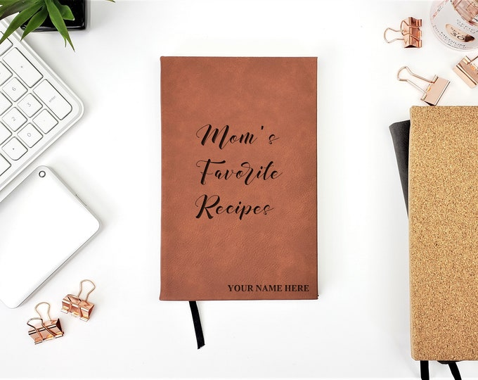 Personalized Moms Favorite Recipes Cook Book Gift For Mom Journal