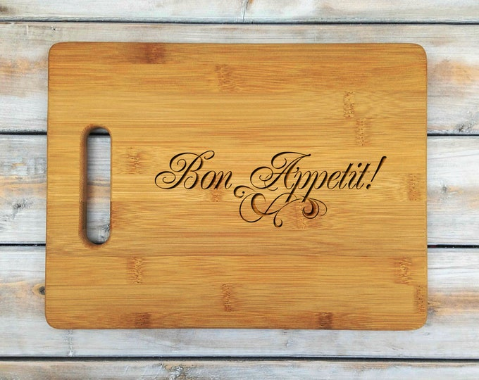 Personalized Cutting Board | Cutting Board | Laser Engraved | Housewarming Gift | Bon Appetit | Mr and Mrs | Mothers Day Gift