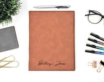 Personalized Name Monogram Business Portfolio Notepad | Personalized Gift | Anniversary Gift