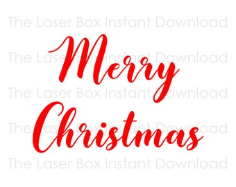 Merry Christmas Vector Svg, Eps, Png, Jpg and Pdf Instant Download