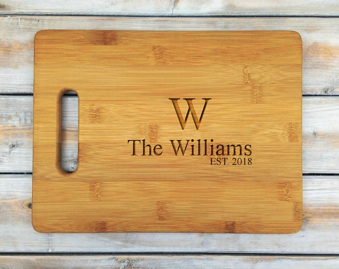 Personalized Cutting Board | Bamboo Cutting Board | Cutting Board | Laser Engraved | Housewarming Gift | Groom and Bride | Mothers Day Gift