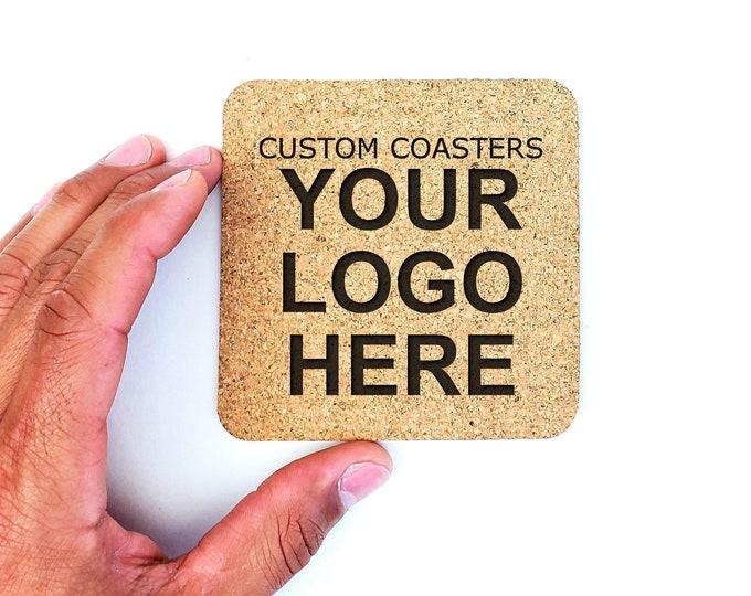 Monogrammed Logo Custom Cork Coasters