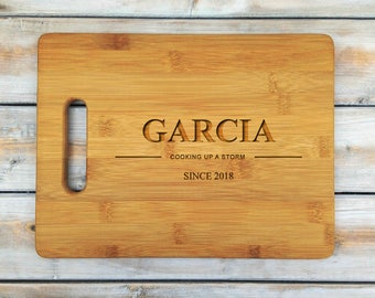 Personalized Cutting Board | Bamboo Cutting Board | Laser Engraved | Housewarming Gift | Cooking Up A Storm | Mothers Day Gift | Father Gift