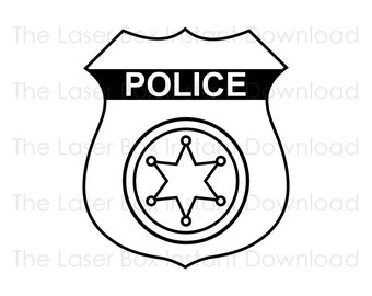 Police Officer Badge Vector Svg, Eps, Png, Jpg and Pdf Instant Download