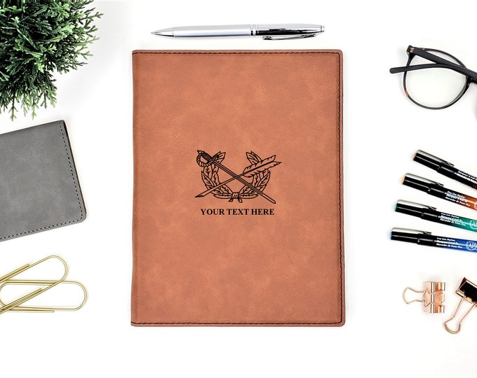 Personalized Business Portfolio Notepad | Army JAG | Monogrammed | Personalized Gift | Lawyer Gift | Attorney Gift