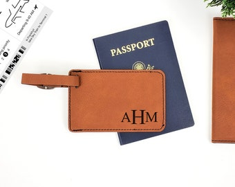 Personalized Luggage Tag | Monogrammed | Personalized Gift | Travel | His & Hers Luggage Tags | Adventure | Couples Bag Tag