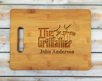 Personalized Cutting Board | Cutting Board | Laser Engraved | Housewarming Gift | The Grillfather | Fathers Day Gift | Grill | BBQ