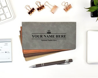 Personalized Checkbook Cover | Attorney At Law | Lawyer Gift | Monogrammed | Laser Engraved | Personalized Gift