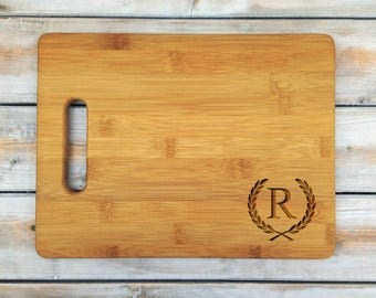 Personalized Cutting Board | Bamboo Cutting Board | Laser Engraved | Housewarming Gift | Initial | Mothers Day Gift | FathersDay Gift