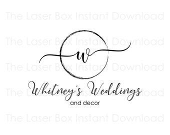 Premade Wedding Business Logo Design Svg, Eps, Png, Jpg and Pdf (Instant Download)