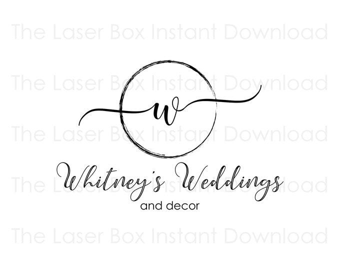 Premade Wedding Planner Logo Design Svg, Eps, Png, Jpg and Pdf (Instant Download)