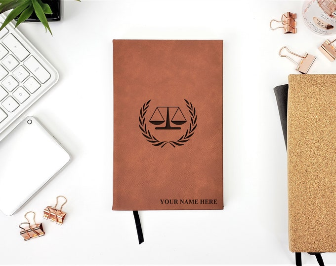 Personalized Journal Attorney Lawyer law School Graduation Gift Journal