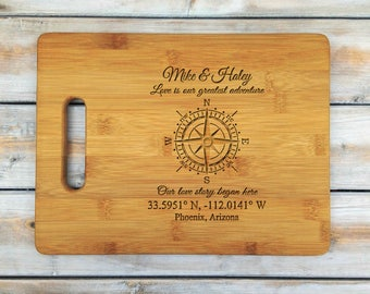 Personalized Cutting Board | Cutting Board | Laser Engraved | Housewarming Gift | Nautical | Mr and Mrs | Mothers Day Gift | Father Gift
