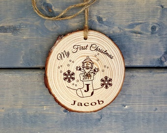 My First Christmas Ornament 2017 | Baby's First Christmas | Christmas Ornament | First Christmas | Personalized Ornament | FREE SHIPPING