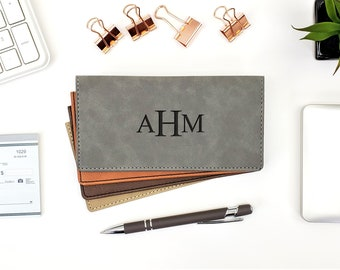 Personalized Checkbook Cover | Name Initials | Monogrammed | Laser Engraved | Personalized Gift | Mothers day | Fathers Day