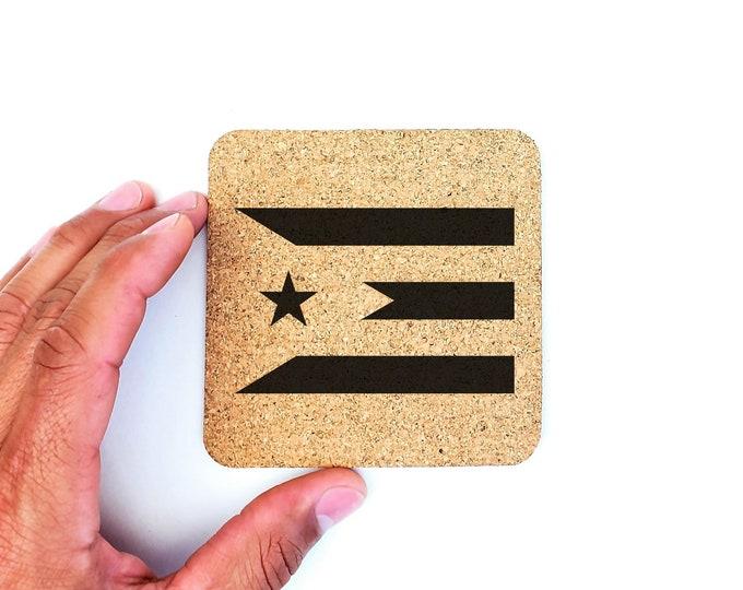 Puerto Rico Abstract Flag Boricua Puerto Rican Cork Coasters