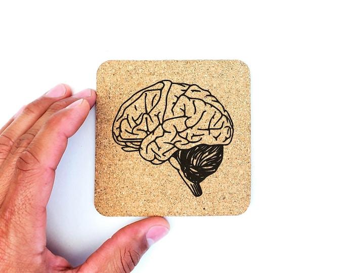 Brain Anatomy Science Biology Medical School Cork Coasters