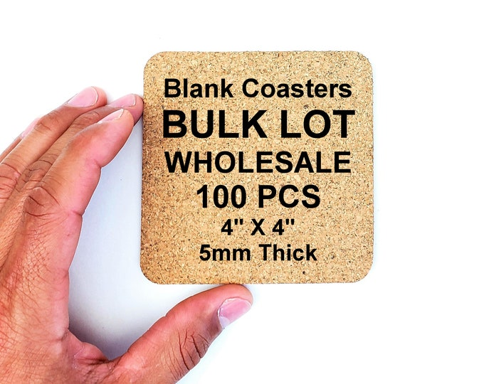 100 PCS Bulk Lot Wholesale Blank Coasters 5mm Thick