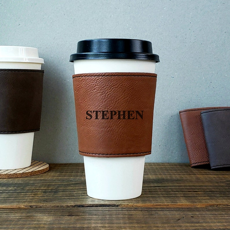 Personalized Cup Sleeve Your Name Personalized Coffee Cup image 0