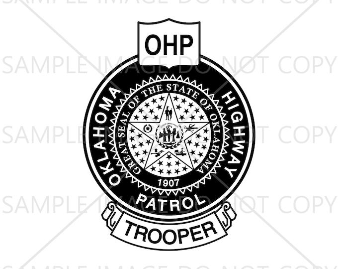 Oklahoma Highway Patrol Svg, Trooper Badge Svg, Vector Svg, Eps, Png, Jpg and Pdf Instant Download
