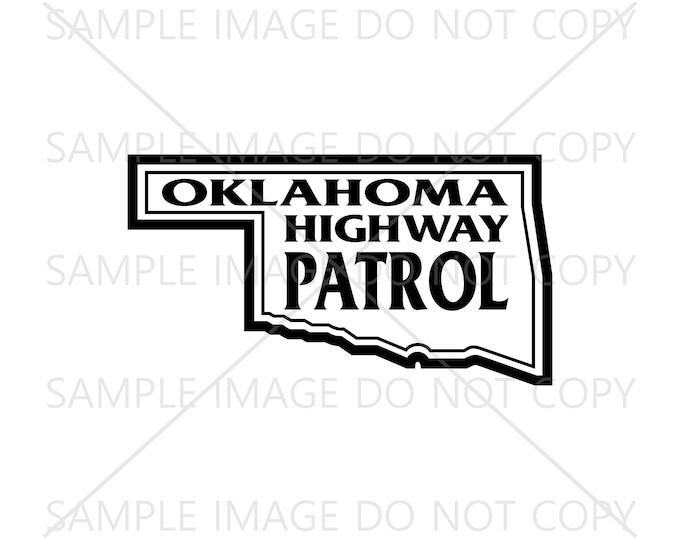 Oklahoma Highway Patrol Trooper Logo, Police Vector Svg, Png, Jpg and Pdf, Instant Download