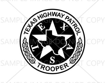 Texas Highway Patrol Trooper Badge Vector Svg, Eps, Png, Jpg and Pdf Instant Download