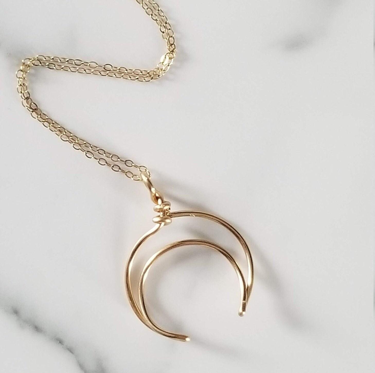 Half Moon 14k Gold Fill Necklace